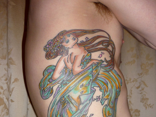 Fantasia Oceanic Rib Tattoo