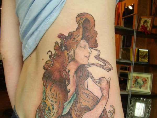 Bounteous Brown Tresses Tattoo