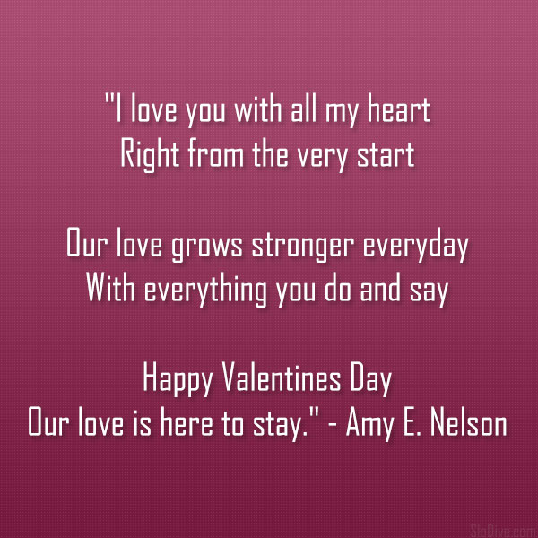 Amy Valentines Poem A Valentine