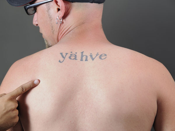 Upper Back Tattoo Words