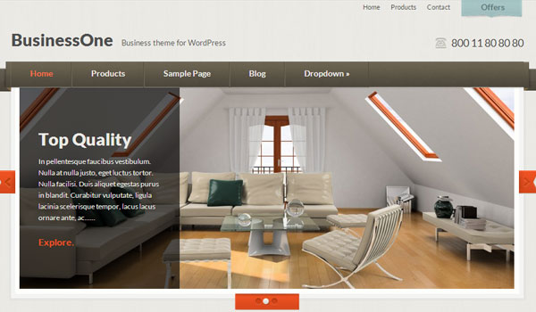 businessone 41 Best WordPress Themes