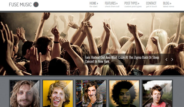 fuse music 41 Best WordPress Themes