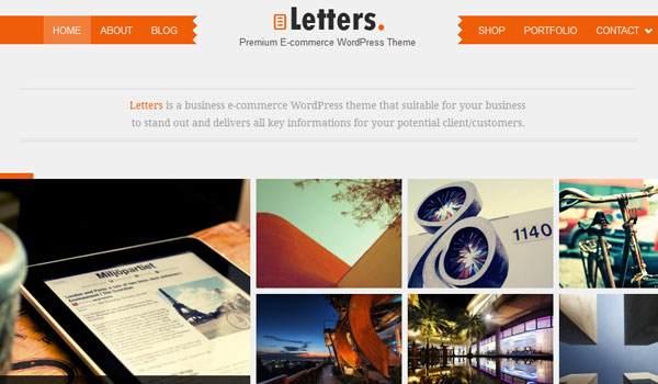 letters 41 Best WordPress Themes