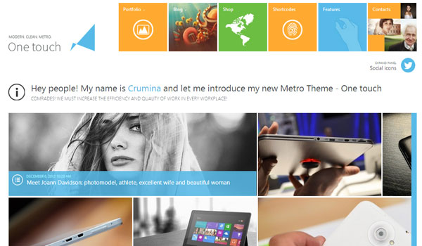 one touch 41 Best WordPress Themes
