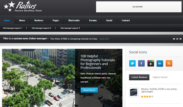 ratius 41 Best WordPress Themes