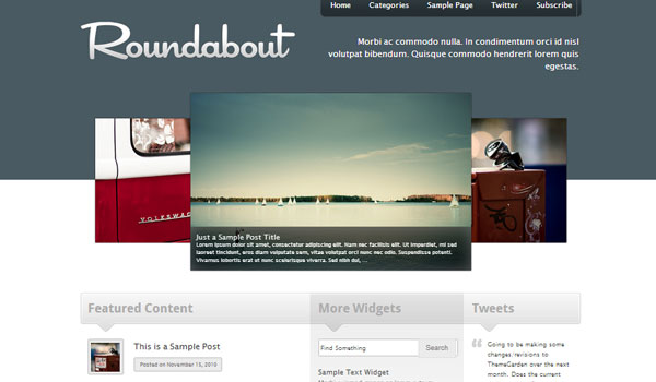 roundabout 41 Best WordPress Themes