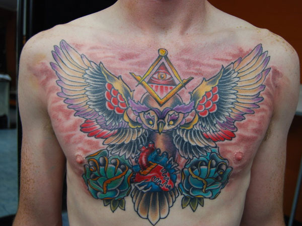 beauti 27 Strong Chest Tattoos For 2013