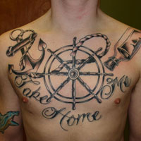 27 Strong Chest Tattoos For 2013