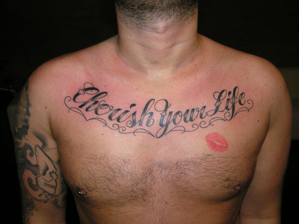 kiss 27 Strong Chest Tattoos For 2013
