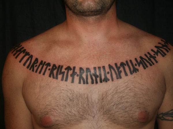 Mysterious Chest Tattoo