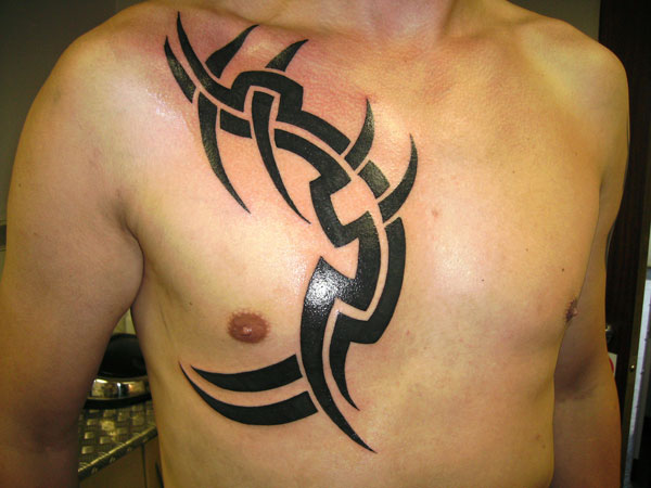 tribal 27 Strong Chest Tattoos For 2013