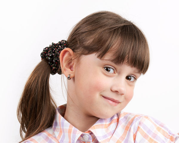 Side Pony Girl Hairstyle