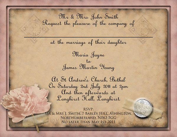 Wedding Invitations Templates Word – Free Wedding Templates for Word