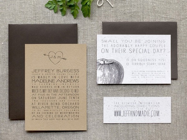 funky catchy wedding invitations