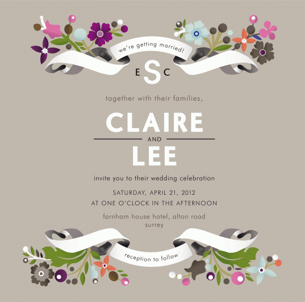 template for wedding invitation cards | wblqual, Invitation templates