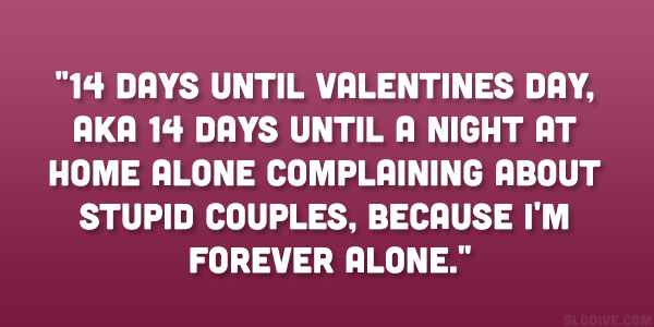 Funny Quotes About Being Single Gorgeous Love On Valentines Day Quotes