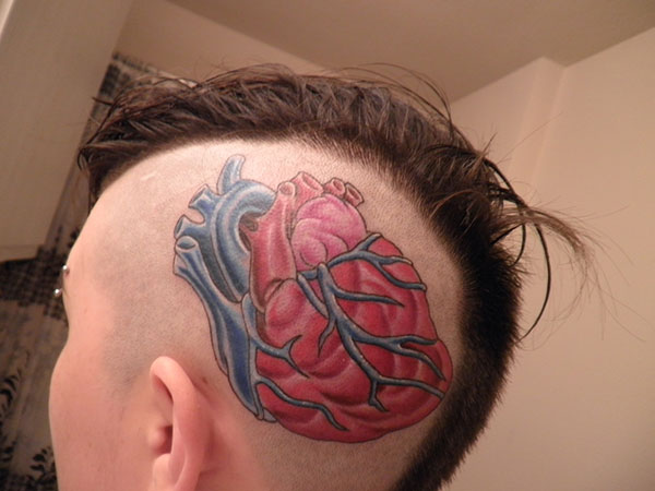 Quirky Heart Tattoo