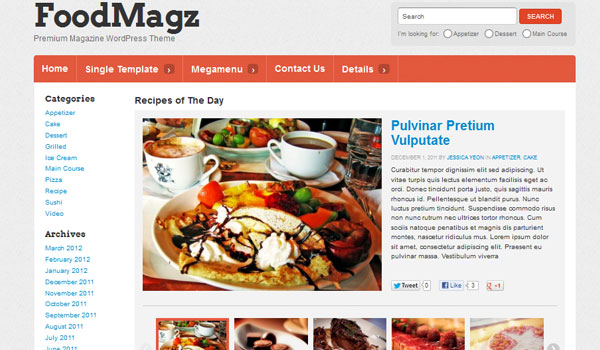 FoodMagz Theme