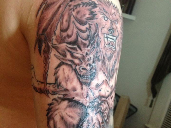 colourful 38 Powerful Lion Tattoos