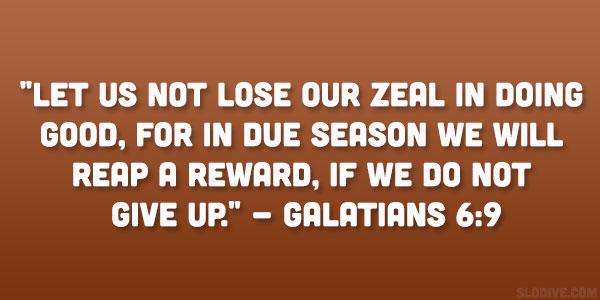 Galatians 6:9 Quote