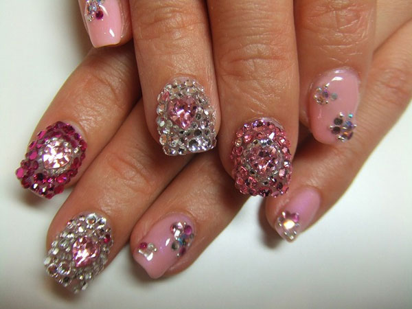 Stone Art - 36 Simple Nail Designs Which Are Fabulous