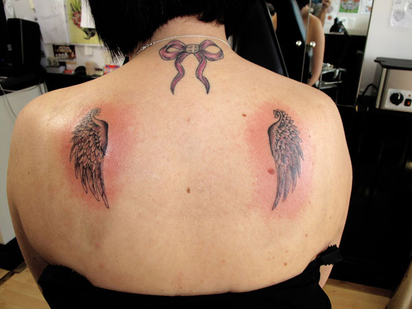 Small Angel Wings Tattoos 24 Dainty Collections Slodive