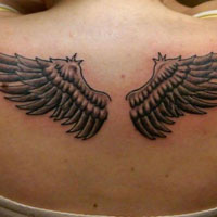 24 Dainty Small Angel Wings Tattoos