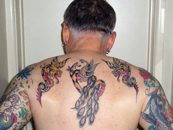 Artistic Peacock Tattoo