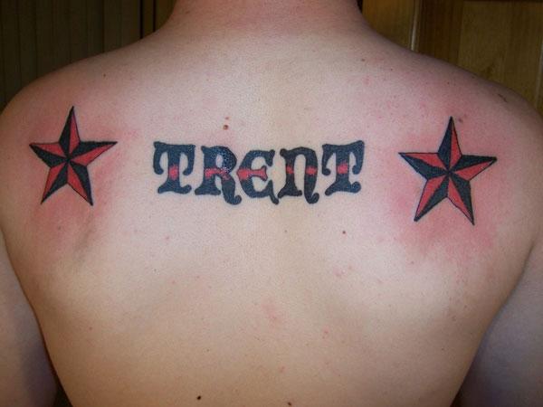 Catchy Upper Back Tattoo