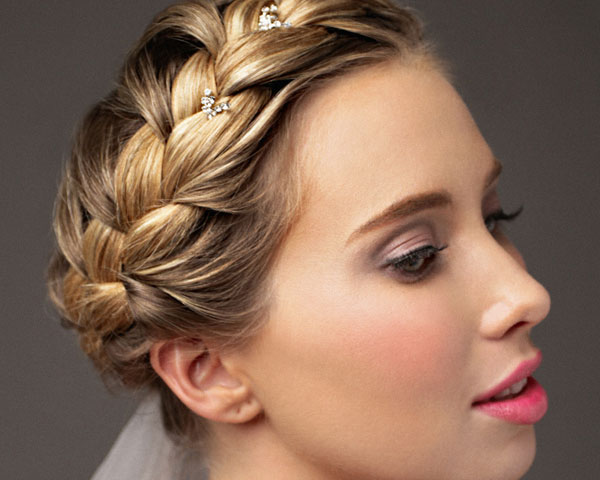 Braided Wound Updo Hairstyle