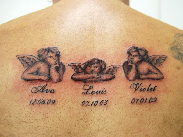Cherubs Memorial Tattoo