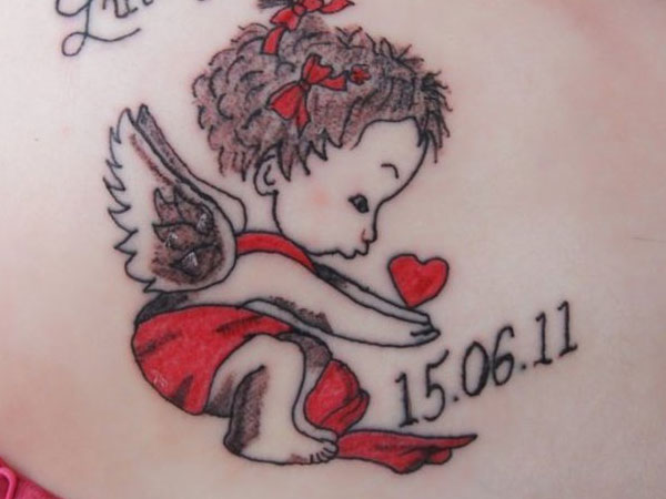 Loving Memory Cherub Tattoo
