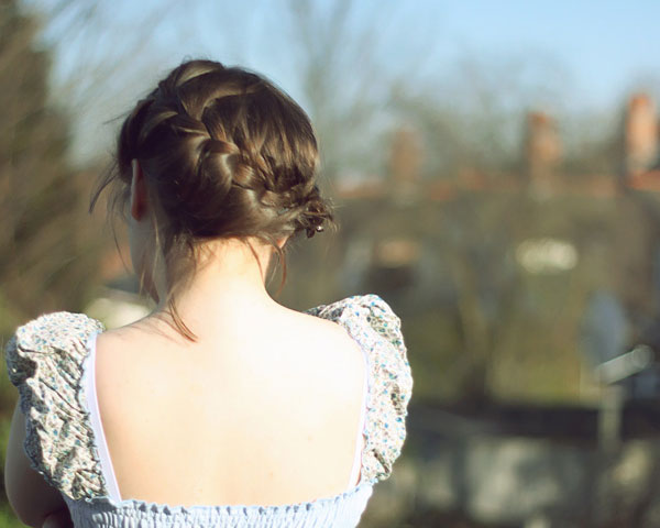 Back View Braid Hairstyle