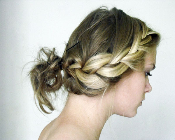 French Wide Plait Updo