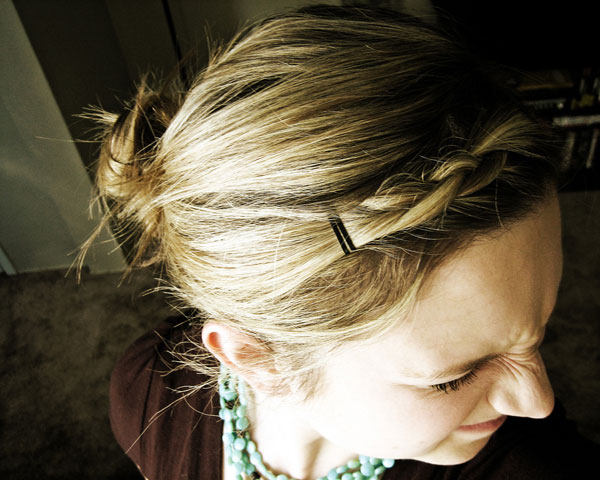 French Braid Top View