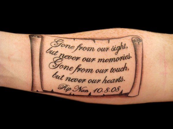 23 Thoughtful Scroll Tattoos For 2013