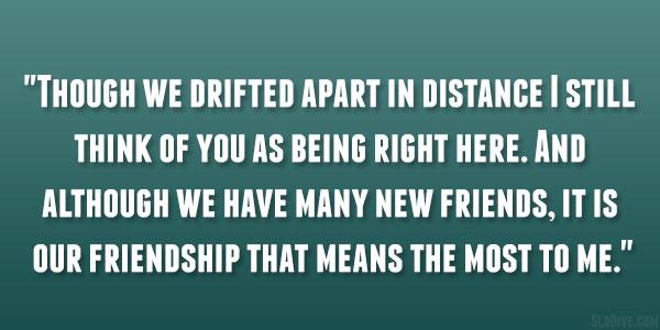 Drifted Apart
