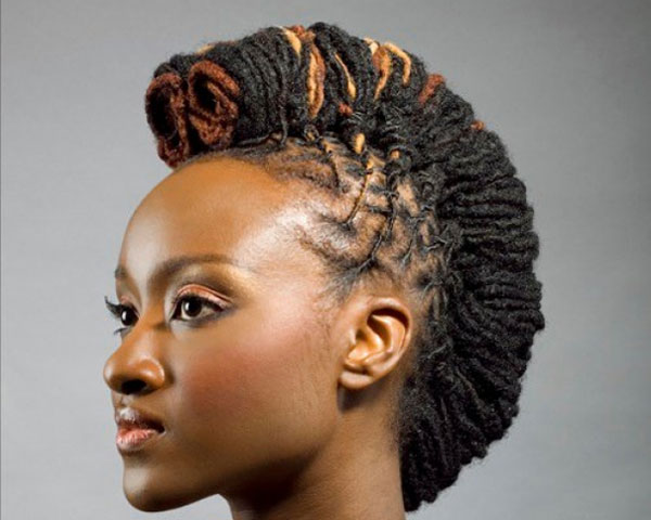 Arched Mohawk Look For Black Women