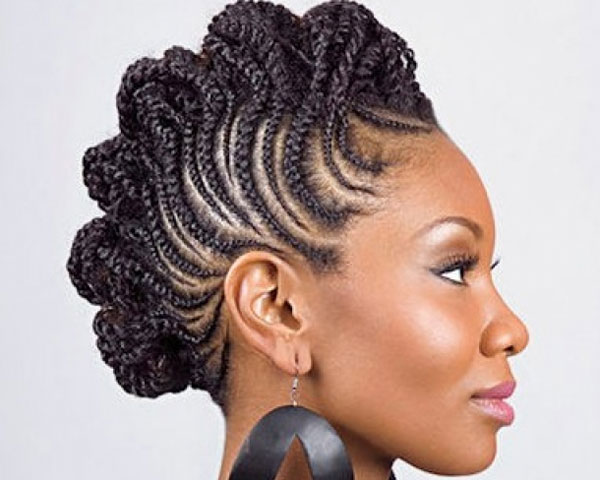Snake Braids With Mohawk Look For Black Women