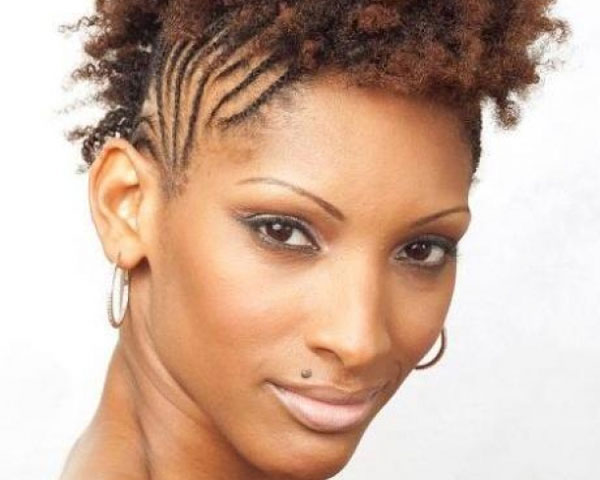 curly 22 Fascinating Mohawk Hairstyles For Black Women