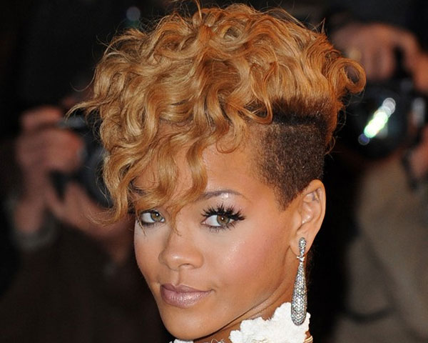 white dress 22 Fascinating Mohawk Hairstyles For Black Women