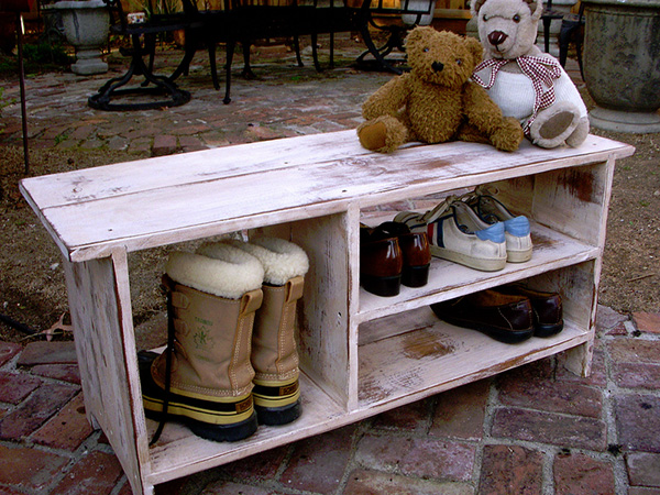 Outside Shoe Storage Bench