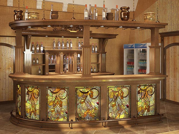 Stained Glass Wet bar