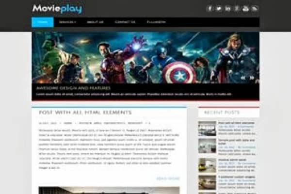 MoviePlay WordPress Theme1
