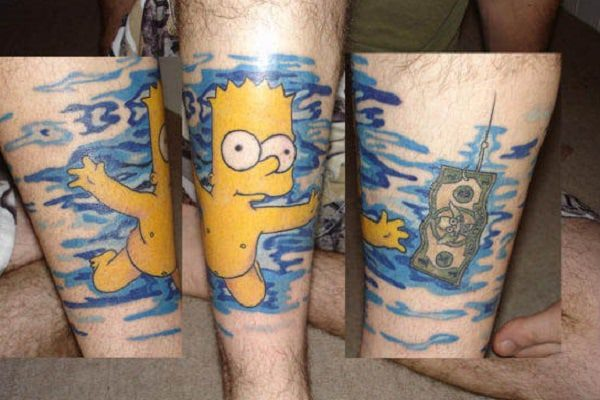 Bart as the Nevermind Baby