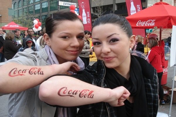 Coca Cola 12 Corporate Tattoo Designs for Brand Enthusiasts