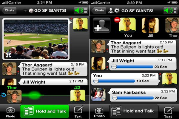 Voxer 10 of the Best Free iPhone Apps for Messaging