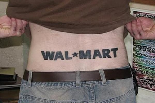 Wal Mart 12 Corporate Tattoo Designs for Brand Enthusiasts
