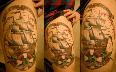 pirate ship tattoo 10 Best Tattoos For 2013