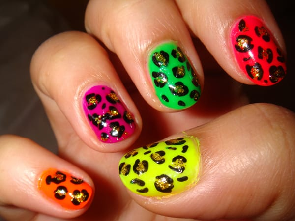 cheetah nails
